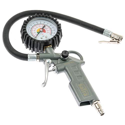 Satra S-TG3 | Druckluft Reifenfüller mit Manometer Reifenfüllgerät für Kompressor