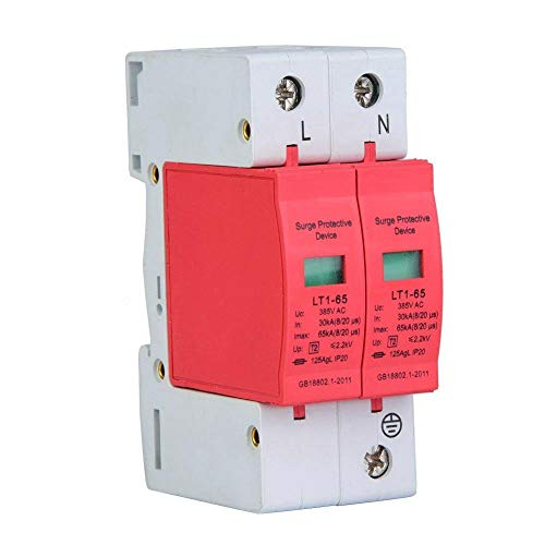 Protector de Sobrevoltaje del Teléfono, Protector de Sobrevoltaje de Bajo Voltaje para Uso en Hogar o Uso Profesional(2P 80KA)