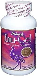 Purple Emu Ultra Emu-Gel Emu Oil Dietary Supplement Soft Gel Capsules 90/750mg