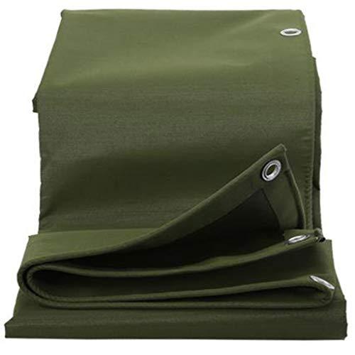 Bâches Isolation extérieure d'écran solaire de toile d'ombre de pluie épaissie par toile bâche résistante à l'usure (Couleur : Green, taille : 4 * 8m)