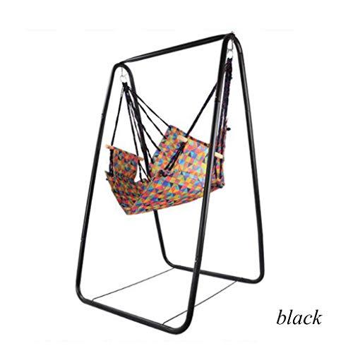 Stoel en swing, opknoping stoelen, schommels en ligbedden, 100 kg dragen, ideaal for binnen/buiten, patio en een terras.Massief houten leuningen, uitstekende comfort en duurzaamheid