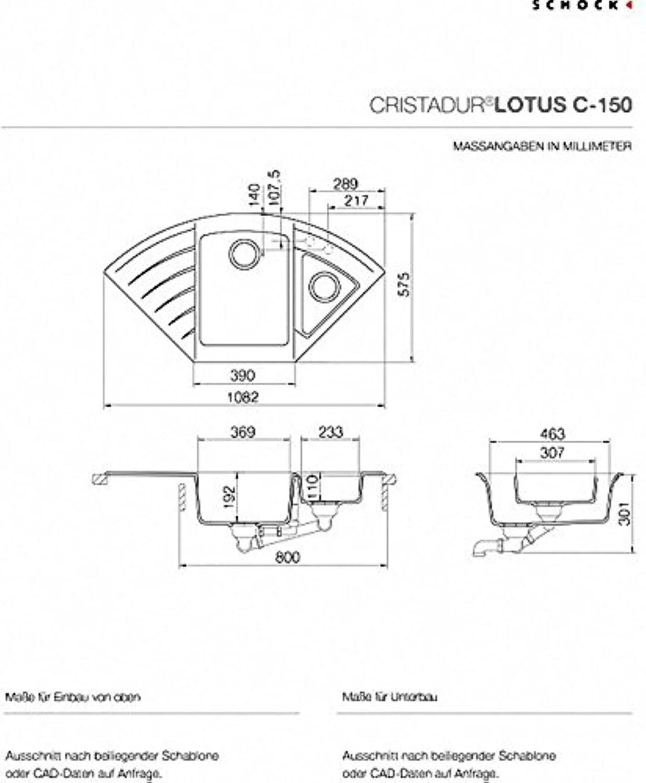 Schock Lotus C150 Unterbau in der Farbe stone LOTC150USTO