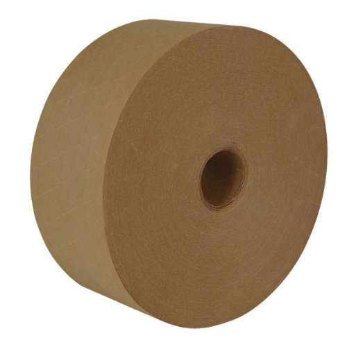 """IPG - Industrial Carton Master Reinforced Water Activated (WAT) Tape, 3"""" x 450 ft, Natural, (10-Pack)"""