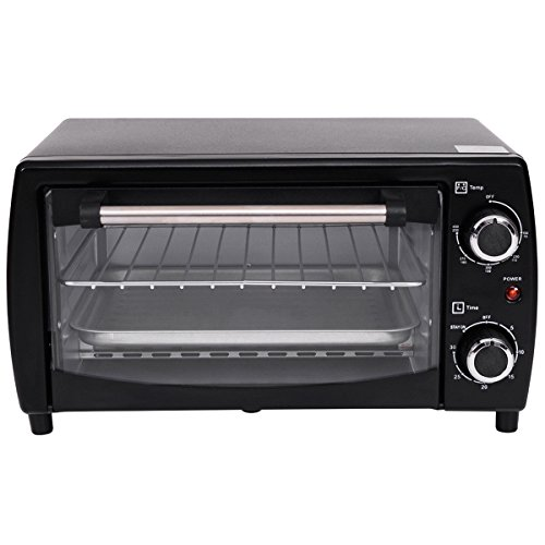 Costway 750W Electric Toaster Oven, Pizza Oven Broiler 10L Countertop Black