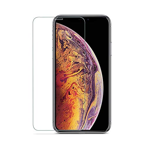 JSWORD HD Clear Anti Blue Light Filter Tempered Glass Screen Protector for iPhone Xs/X/ 10 5.8 inch 1 Pack - Anti Fingerprint, 2 Stronger, Alignment Frame (iPhone X)