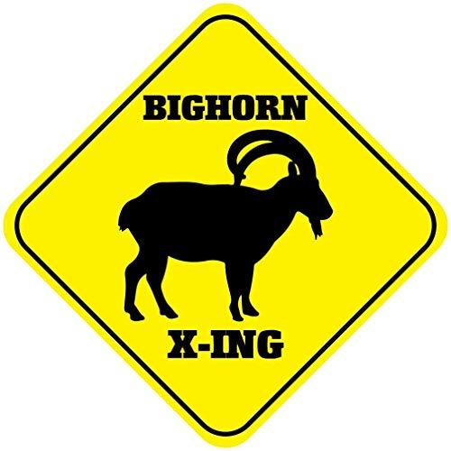 Bighorn Crossing 20 x 30 cm, aspecto vintage de 20 x 30 cm, decoración de metal para el hogar, cocina, baño, granja, jardín, garaje, citas inspiradoras, decoración de pared