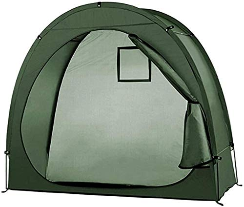 Bike Tent Bike Storage Shed 190T Multifunctional Bicycle Tents Outdoor Waterproof Pop Up Tents Window Design for 2 Adult Bicycles-Green fantastic