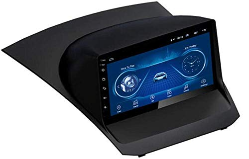 Navegación GPS Android 10.0 Radio para automóvil para Ford Fiesta Doble DIN Coche Estéreo Multimedia Player 9 Pulgadas Pantalla táctil Soporte Bluetooth Llamadas de Manos Libres Dab/Link