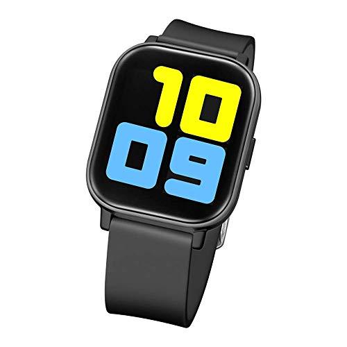 ZHENAO Pulsera Inteligente de Pantalla de 1,5 Pulgadas Pulsera Inteligente Ip68 Dial Impermeable Bluetooth Sports Watch Android Y Ios Exquisito/Negro