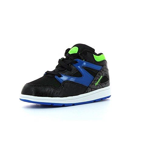 Reebok Versa Pump Omni Lite, Zapatos de Primeros Pasos Unisex bebé, Negro/Azul/Verde/Blanco (Black/Blue Sport/Solar Green/Wht), 22