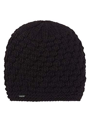 Burton Damen Big Bertha Beanie Mütze, True Black, One Size