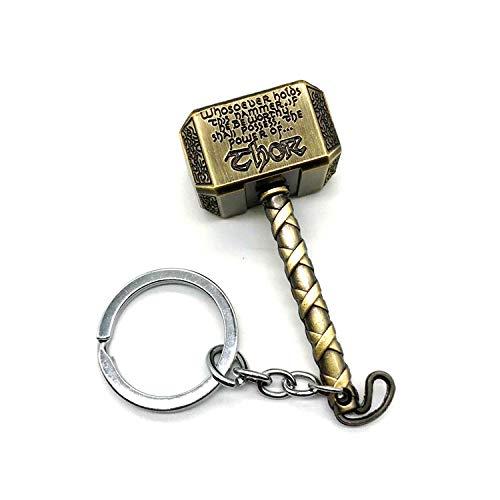 Bosi General Merchandise Avengers, Thor, Mjolnir Schlüsselbund, Metall Schlüsselbund, Geschenk, Waffe Schlüsselbund Schmuck