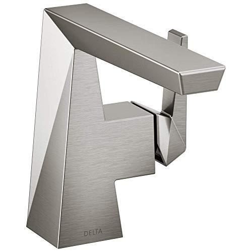 DELTA FAUCET 543-SSMPU-DST Trillian Handle Bathroom Faucet Single Hole, Stainless