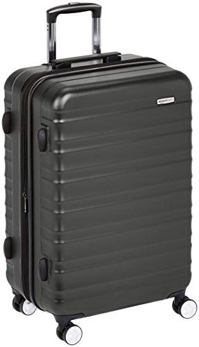 Amazon Basics - Maleta rígida de alta calidad, con ruedas y cerradura TSA incorporada - 78 cm, Negro