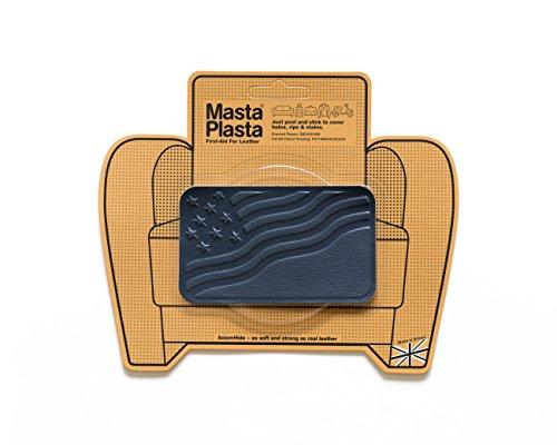 MastaPlasta leer-reparatiepatches, zelfklevend, marineblauw maat/design selecteerbaar EHBO-set voor banken, autostoelen, handtassen, jassen etc.
