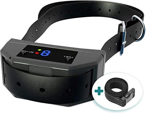 ELZU.US [Upgraded 2020] Smart No-Shock Bark Collar with Dual Vibration Chipset for Advanced Barking Detection - Best Dog Anti-Barking Collar, Beep/Vibration Mode. No-Bark Device