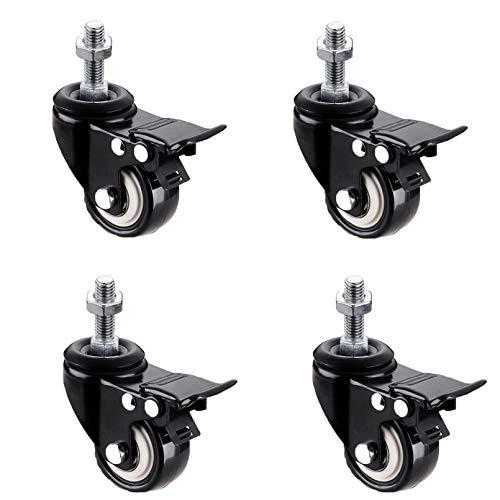 tian xing jian zhi 4 Pcs Swivel Castor Wheel with Brakes,Screw Rod Caster Wheels,with nut,Wird in Lagerschränken,...