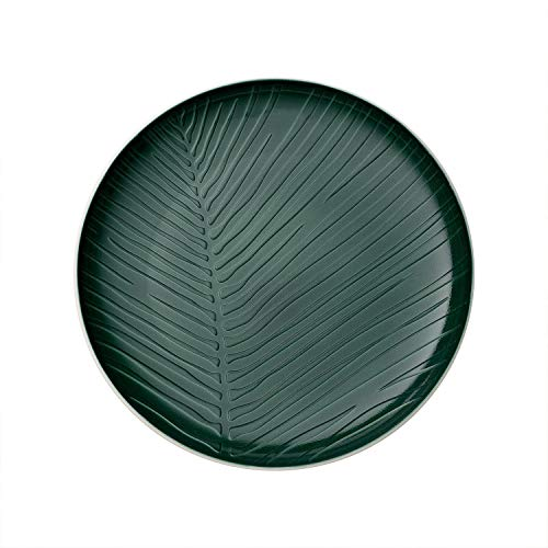 Villeroy & Boch it's my match Green Teller Leaf, 24 cm, Premium Porzellan, grün