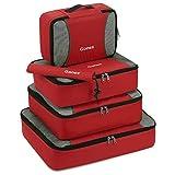 Gonex Packing Cubes Organizadores de Viaje de Nailon Rip-Stop Bolsas de Embalaje Juego de 5 Paquetes 9 Paquetes