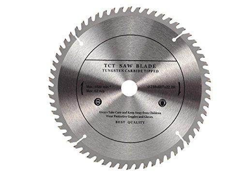 Top Qualität Kreissägeblatt (Skill Säge) 230mm für Holz Trennscheiben Kreissägeblatt 230mm x 22,23mm (16mm) X 60Zähne