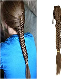 Hair Long Straight Ponytail Clip In Braided Ponytail Fishtail Plaited Synthetic Hair Extensions Hairpiece
