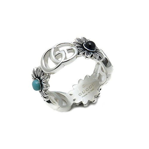 Gucci Ring with Flowers and Interlocking G Size 15 YBC527394001