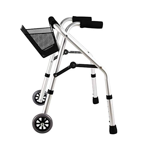 DSHUJC Andador para niños con parálisis Cerebral, Estructura de pie para niños, Ayuda para Caminar Ajustable en Altura con Asiento, Andador de Ruedas Ligero