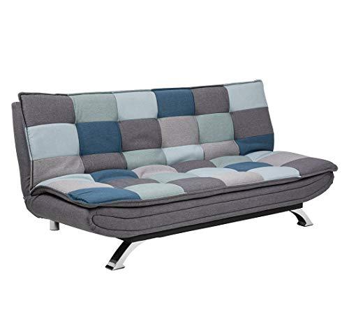 AC Design Furniture Bettcouch Jasper, B: 196 x T:98 x H: 91 cm, Stoff, Mehrfarbigen