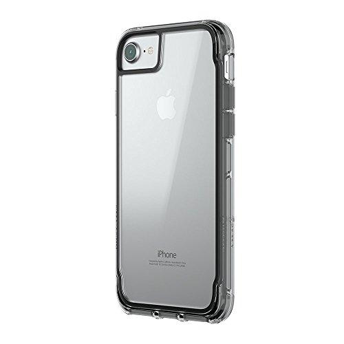 Griffin Survivor Clear Case Schutzhülle nach Militärstandard für Apple iPhone 8/7/6S [Kratzfeste Beschichtung I Dünnes Design I Stoßdämpfende Ecken I Qi kompatibel] (schwarz/transparent) TA43827