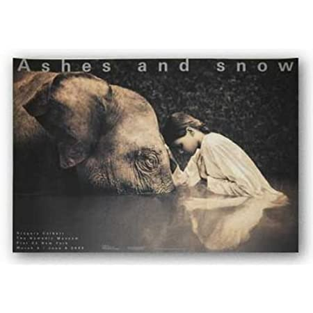 """GREGORY COLBERT Boy Reading to Elephant 35.5/"""" x 51/"""" Poster 2005 lg"""