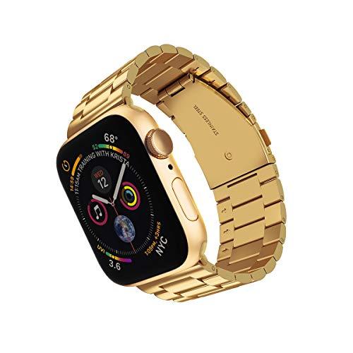 ARTCHE Cinturino per Apple Watch 42mm/44mm, Cinturino in Acciaio Inossidabile Compatibile con iWatch, Cinturini per Apple Watch Serie SE 6 5 4 3 2 1, Oro