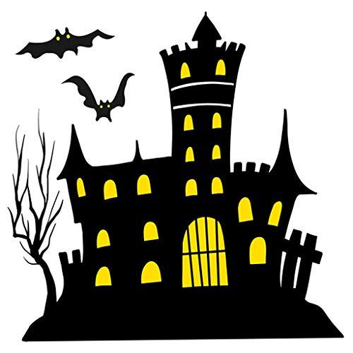 Plantilla reutilizable para decoración de Halloween, tamaño A5, A4, A3, diseño de castillo encantado, Plantilla reutilizable de tereftalato de polietileno, A3 size - 297 x 420 mm, 11.7 x 16.5 in