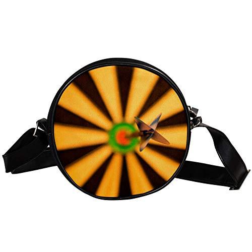 TIZORAX Darts, Dartscheibe, Bull-Eye, Sport kleine runde Umhängetasche, Handtasche für Damen und Mädchen