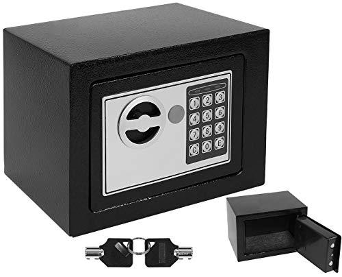 Iso Trade Malatec 8799 - Caja Fuerte para Muebles, electrónica, Cerradura de combinación para Documentos, para Pared, Llaves, Armario para Dinero, Color Negro