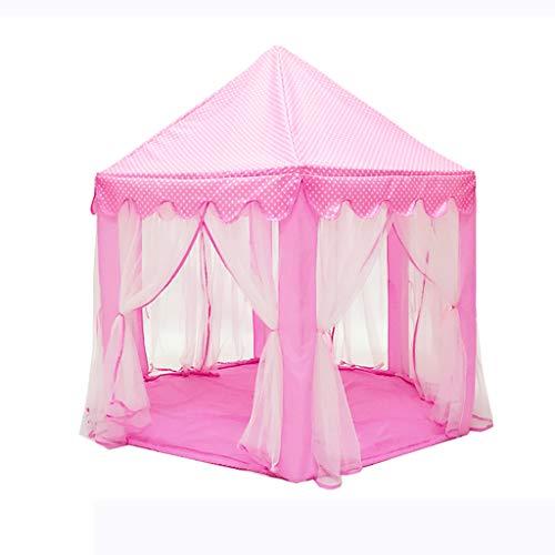 Children's tent Deluxe Kids Princess Kinder Spielen Schlosszelt, Gartenspielhaus im Freien, großes Spielhaus für Kinderfestival Fairy Princess Castle Zelt