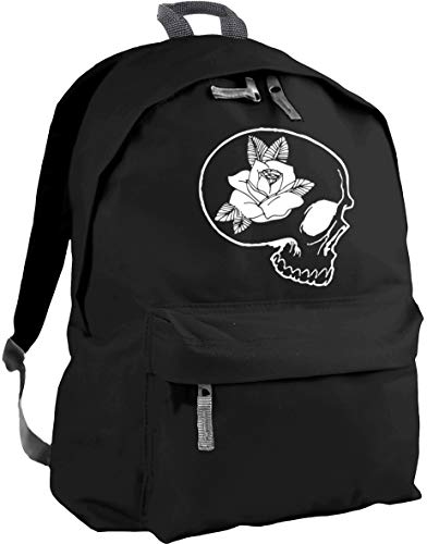 HippoWarehouse Skull and Rose Backpack ruck Sack Dimensions: 31 x 42 x 21 cm Capacity: 18 litres