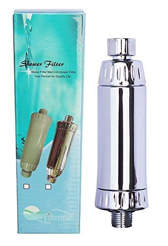 Water Filter Man co uk Filtre de douche KDF Élimine le chlore, réduit le calcaire et les métaux Chromé