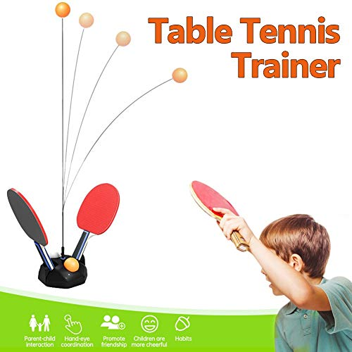 Amazing Deal MMZX Table Tennis Trainer with Elastic Soft Shaft,Ping Pong Trainer for Public Training...