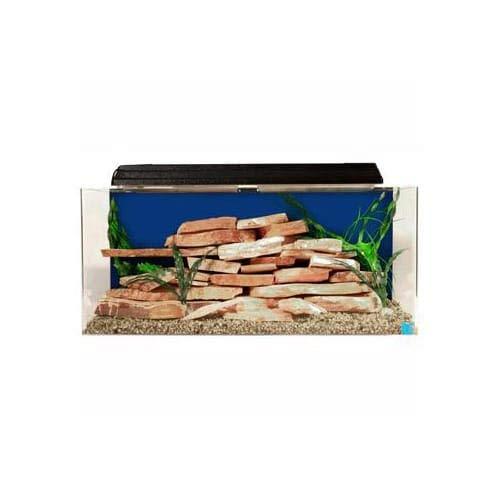 "SeaClear 30 gal Show Acrylic Aquarium Combo Set, 36 by 12 by 16"", Cobalt Blue"