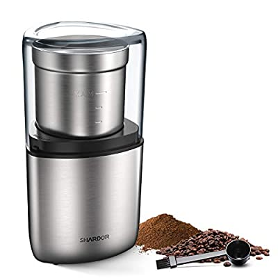 SHARDOR Electric Coffee Grinder Mill with Stainless Steel Blades, 1.4oz/40g, Small Coffee Bean Grinder, Black ...