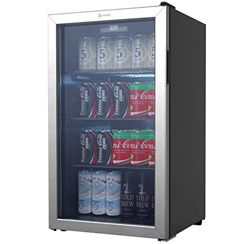 Vremi Beverage Refrigerator and Cooler - 110 to 130 Can Mini Fridge...