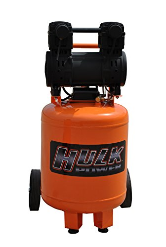 2 HP Quiet Portable Air Compressor, 125 PSI, 10 Gallon, HULK...
