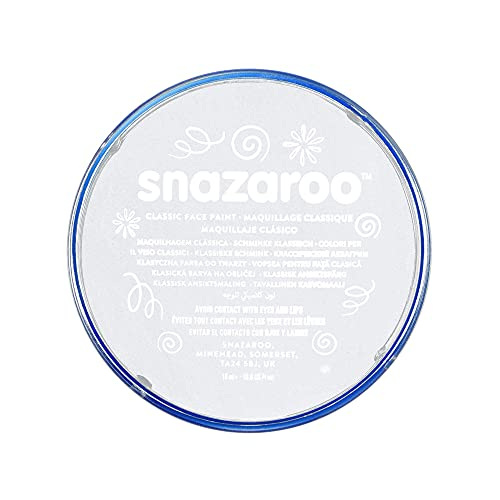 Snazaroo Classic Face and Body Paint, 18ml, White,...