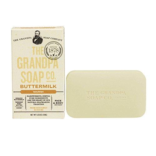 Grandpa's Soap Co. - Face & Body Bar Soap Buttermilk - 4,25 oz.