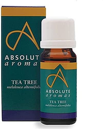 Absolute Aromas Huile Essentielle de Tea Tree (Arbre à Thé) 10 ml - Pure, naturelle, non diluée, sans cruauté et végétalienne - pour l'aromathérapie et les diffuseurs