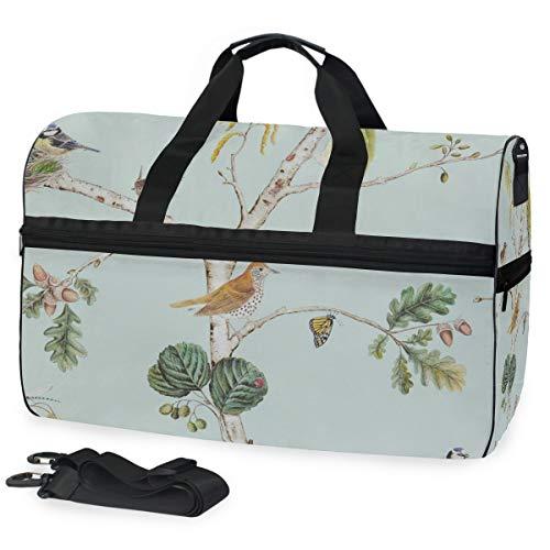 Woodland Chorus 1 große Reisetasche Reisetasche Reisetasche Wochenende Übernachtung Reisetasche Fitness-Sporttasche mit Schuhfach