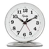Equity by La Crosse 24014 Wind-Up Loud Bell Metal Alarm Clock, Pack of 1, Silver