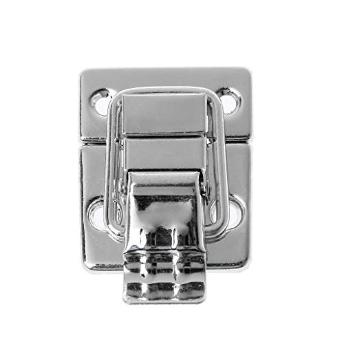 PHILSP Bag Lock Hasp Hook Lock Twist Lock Bag Accessories Handbags Case Alloy Catch Buckle DIY Metal Small Clasp Silver