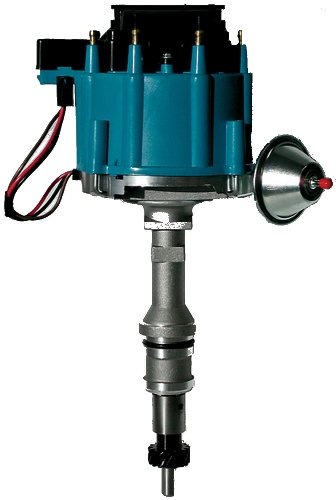Proform 66983B Vacuum Advance HEI Distributor with Steel Gear and Blue Cap for Ford 351 Windsor