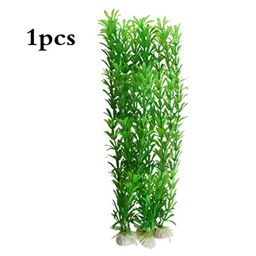 Vollter K¨¹nstliches gr¨¹NES Gras pflanzt Unterwassergef?lschte Aquarium Aquascaping Beh?lter-Dekorationen mit Keramikunterseite f¨¹r Aquarium von TheBigThumb